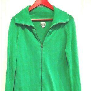 Vintage Converse Chuck Taylor Green ZIP Sweater L